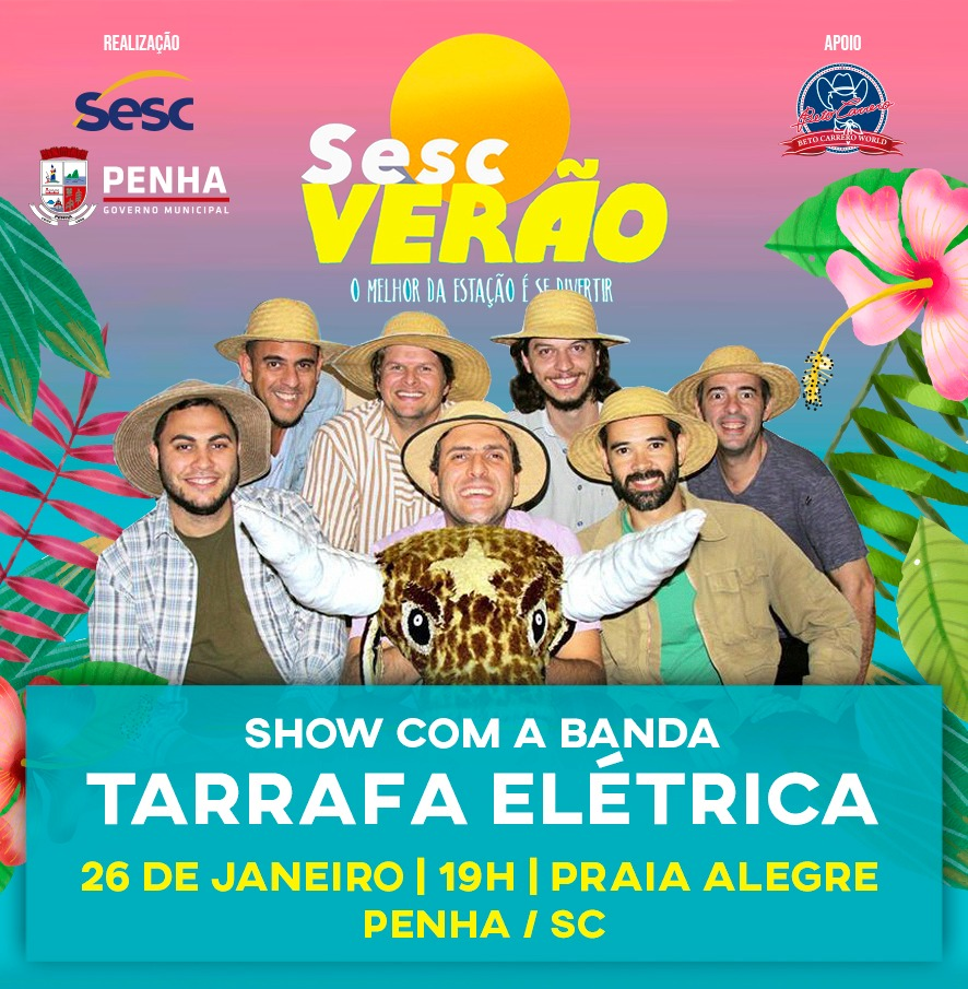 018d46a67f Tarrafa Elétrica é o destaque do último final de semana do Sesc Verão